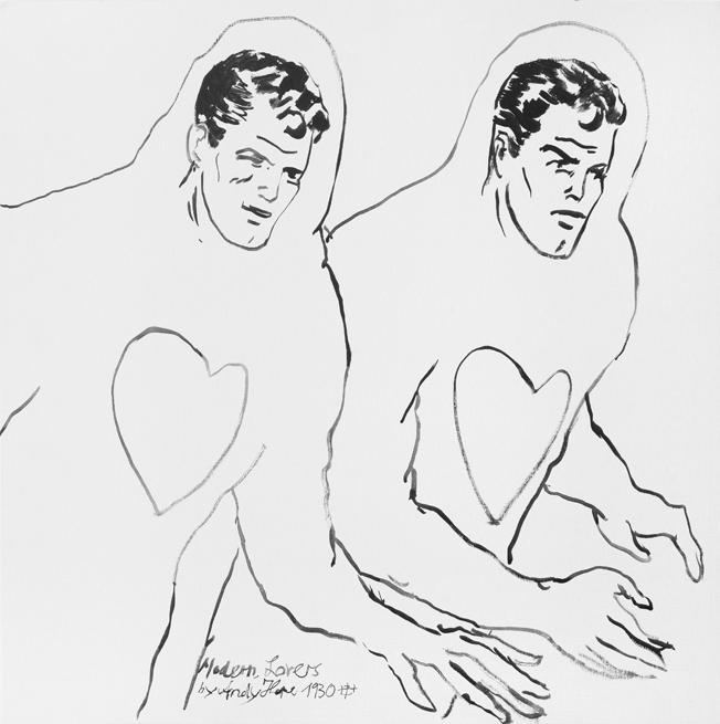AH-Modern Lovers, 2013, Acryl auf Canvasboard, 60 x 60 cm
